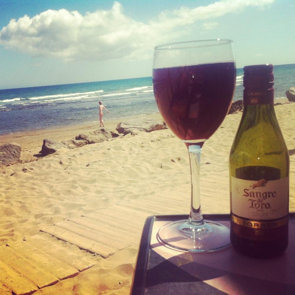 vino y playa